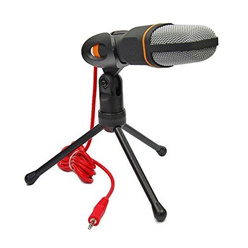 rxyyos 3 5mm klinke pc standmikrofon kondensator mikrofon. Black Bedroom Furniture Sets. Home Design Ideas
