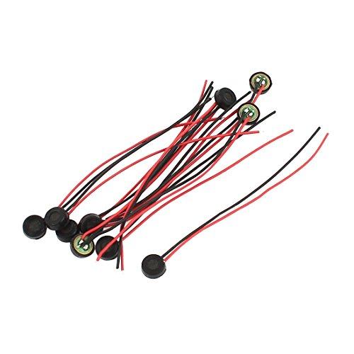 10 st cke 2 adriges kabel mikrofon electret. Black Bedroom Furniture Sets. Home Design Ideas